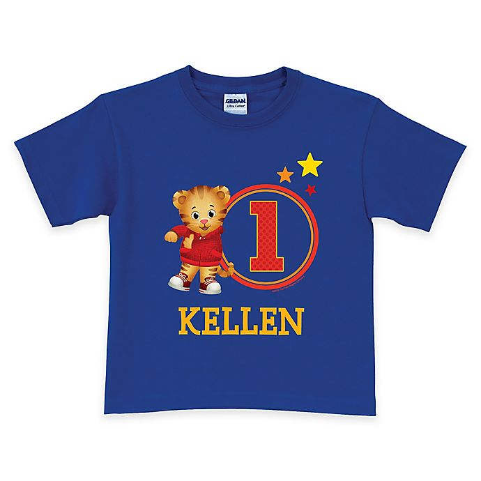 Alternate image 1 for Daniel Tiger's Neighborhood Age T-Shirt in Royal Blue