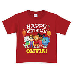 "Daniel Tiger's Neighborhood ""Happy Birthday"" Short Sleeve T-Shirt in Red"