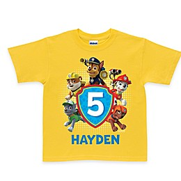"Nickelodeon™ ""PAW Patrol"" Pawesome Birthday T-Shirt in Yellow"
