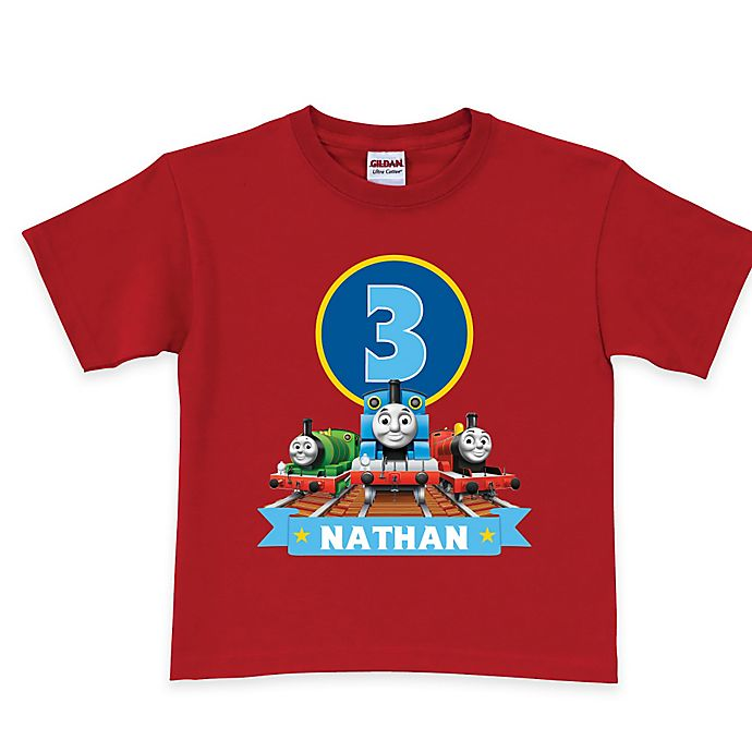 Alternate image 1 for Thomas & Friends Birthday Express T-Shirt in Red