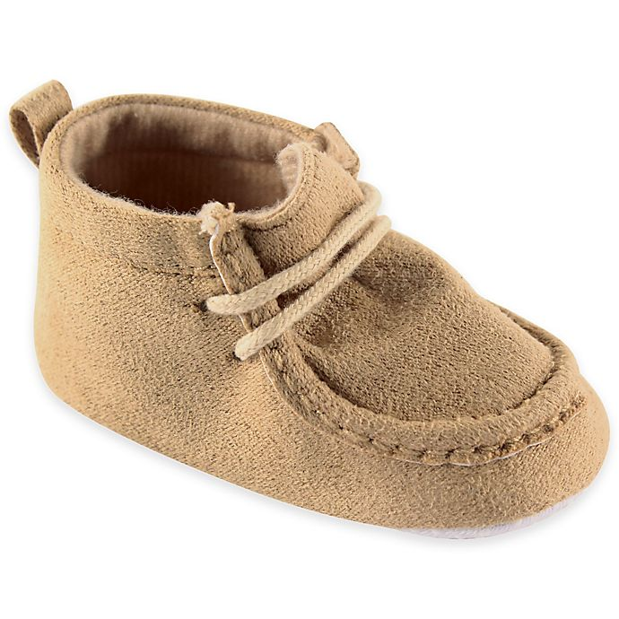 Alternate image 1 for BabyVision® Luvable Friends™ Size 12-18M Suede Shoe in Tan
