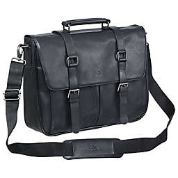 Mancini Buffalo Single Section 15-Inch Laptop/Tablet Briefcase