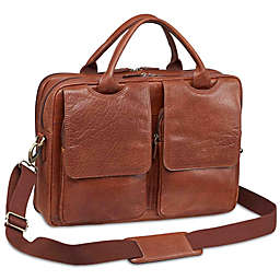 Mancini Arizona Laptop Dual Section Leather Bag
