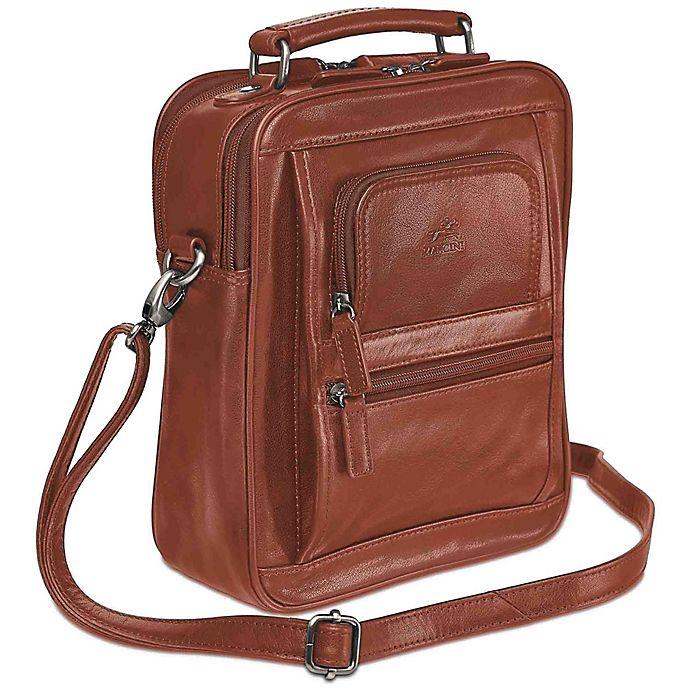 Alternate image 1 for Mancini Arizona Double Section Large Unisex Leather Bag