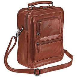 Mancini Arizona Double Section Large Unisex Leather Bag
