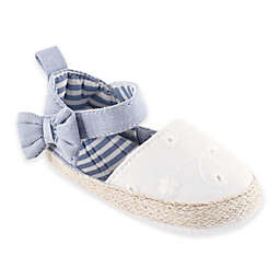 BabyVision® Luvable Friends® Bow Espadrille Sandal in Chambray/White