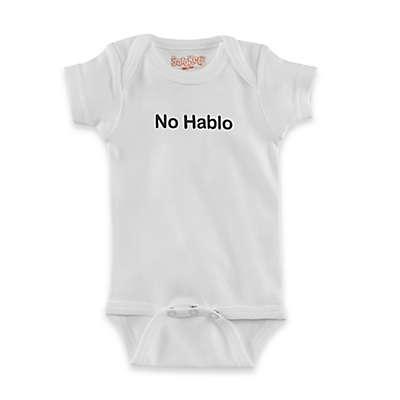 """Sara Kety """"No Hablo"""" Short Sleeve Bodysuit in White/Black"""