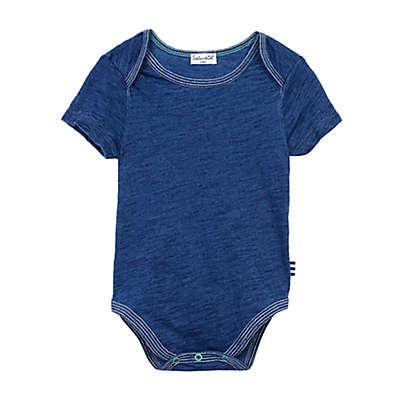 Splendid® Short Sleeve Stripe-Trim Bodysuit in Indigo