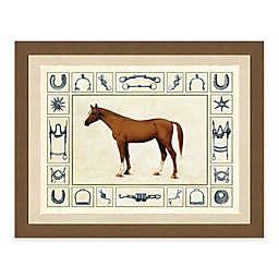 Horse and Horse Bits I Framed Art Print
