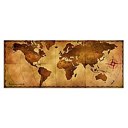 Old World Map Metal Wall Art