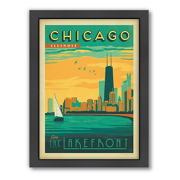 Alternate image 1 for Art & Soul of America™ Chicago: Lakefront Framed Wall Art by Anderson Design Group
