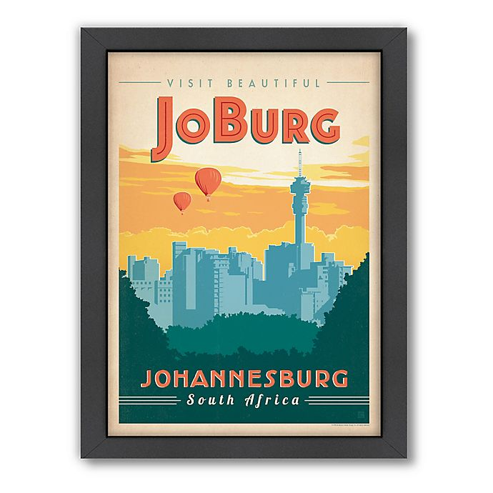 World Travel Johannesburg Framed Wall Art By Anderson