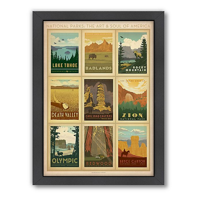 Alternate image 1 for National Parks: Multi-Print 2 Framed Wall Art by Anderson Design Group
