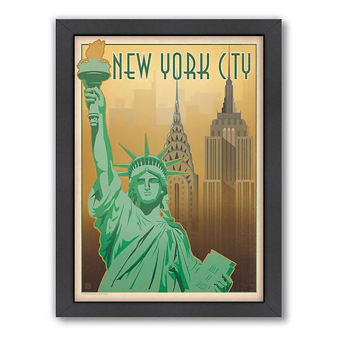 Alternate image 1 for Art & Soul of America™ New York City: Skyline Framed Wall Art by Anderson Design Group