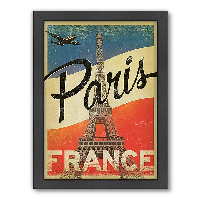Alternate image 1 for World Travel Paris Flag Framed Wall Art by Anderson Design Group
