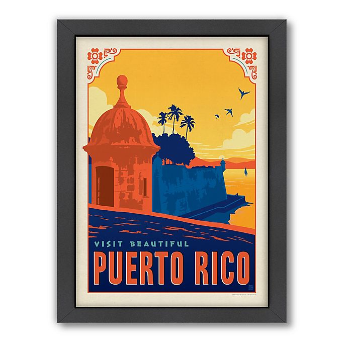 Alternate image 1 for World Travel Puerto Rico Framed Wall Art by Anderson Design Group