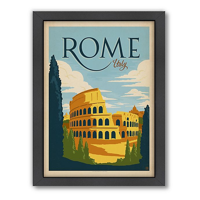 Alternate image 1 for World Travel Rome Framed Wall Art by Anderson Design Group