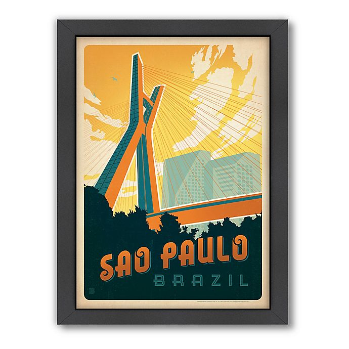 Alternate image 1 for World Travel Sao Paulo Framed Wall Art by Anderson Design Group