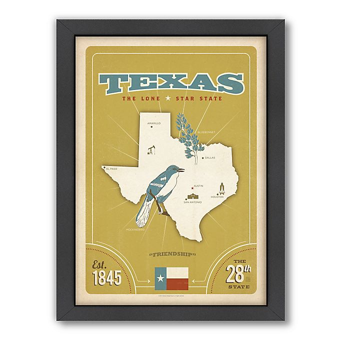 Alternate image 1 for Art & Soul of America™ Texas: State Pride Framed Wall Art by Anderson Design Group