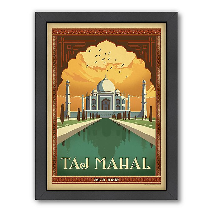 Alternate image 1 for World Travel Taj Mahal Framed Wall Art by Anderson Design Group