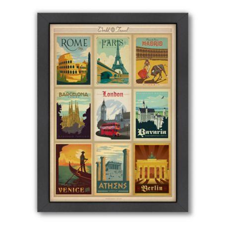 World Travel Multi Image Print 1 Framed Wall Art By