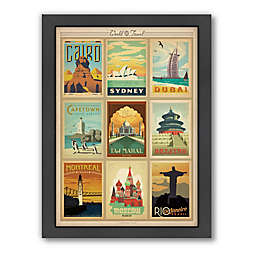 77b5fa965c4 World Travel Multi Print 2 Framed Wall Art by Anderson Design Group