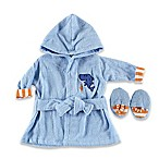 Baby Vision® Luvable Friends® Bathrobe and Slippers in Blue