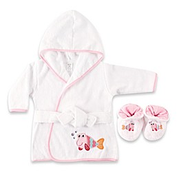 Baby Vision® Luvable Friends® Fish Bathrobe and Slippers Set