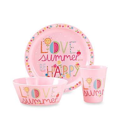 "3-Piece ""Love Summer... Be Happy"" Place Setting"