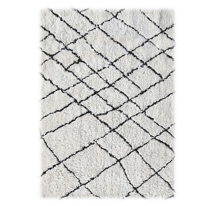 Alternate image 1 for Linon Home Tangier Rug in Ivory/Black