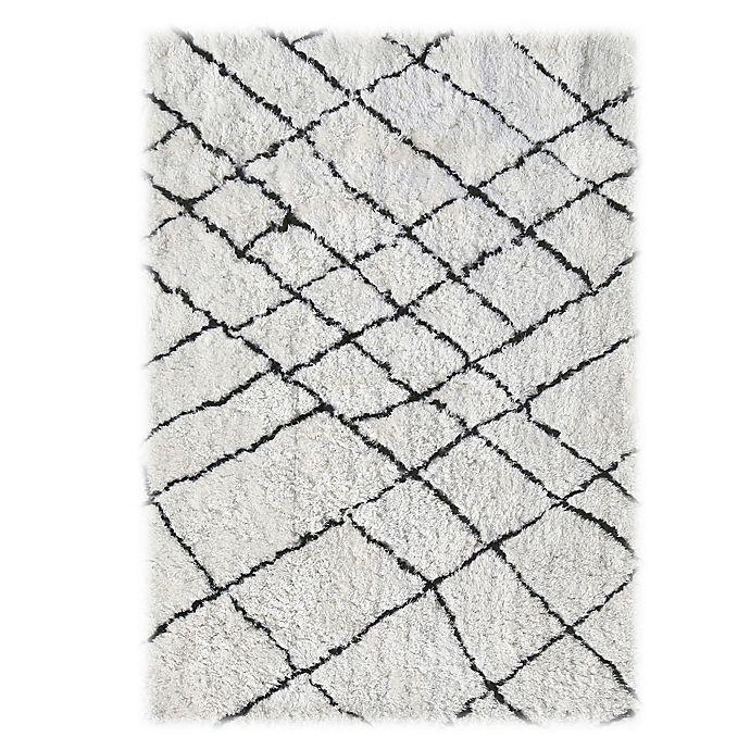 Alternate image 1 for Linon Home Tangier Rug in Ivory/Black
