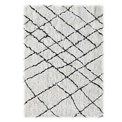 Linon Home Tangier Rug in Ivory/Black