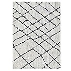Linon Home Tangier 8-Foot x 9-Foot 4-Inch Area Rug in Ivory/Black