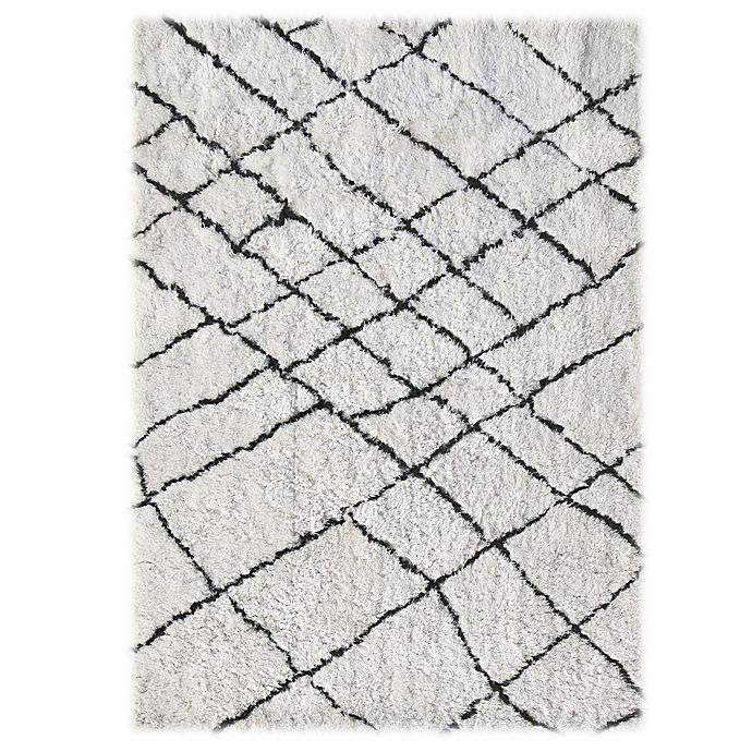 Alternate image 1 for Linon Home Tangier 8-Foot x 9-Foot 4-Inch Area Rug in Ivory/Black