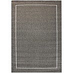 Miami Border 5-Foot 3-Inch x 7-Foot  Indoor/Outdoor Area Rug in Grey