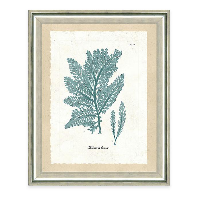 Alternate image 1 for Framed Giclee Teal Seaweed Print I Wall Art