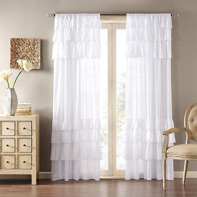 Alternate image 1 for Madison Park Anna Sheer Rod Pocket Window Curtain Panel (Single)