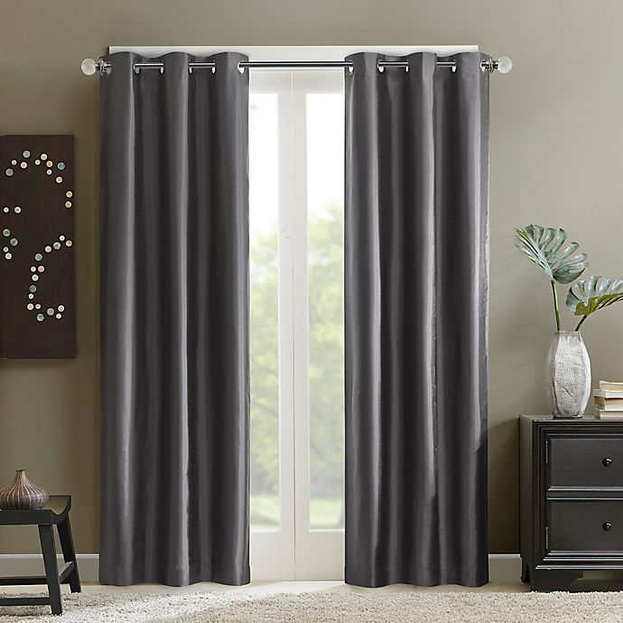 Alternate image 1 for Madison Park Aiden Grommet Top Window Curtain Panel in Grey