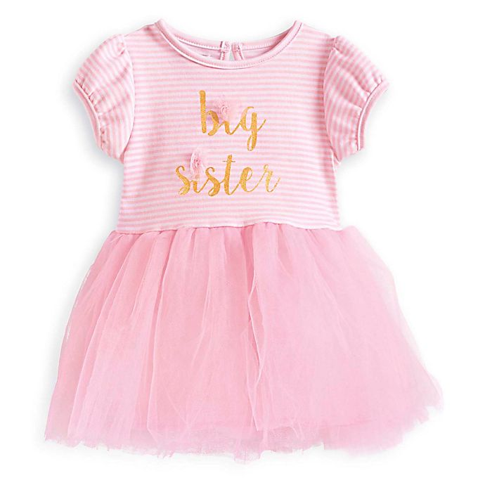 Mud PieR Big Sister Short Sleeve Tutu Dress In Pink Gold