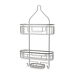 ORG Extra Wide and Extra Long Shower Caddy in Satin