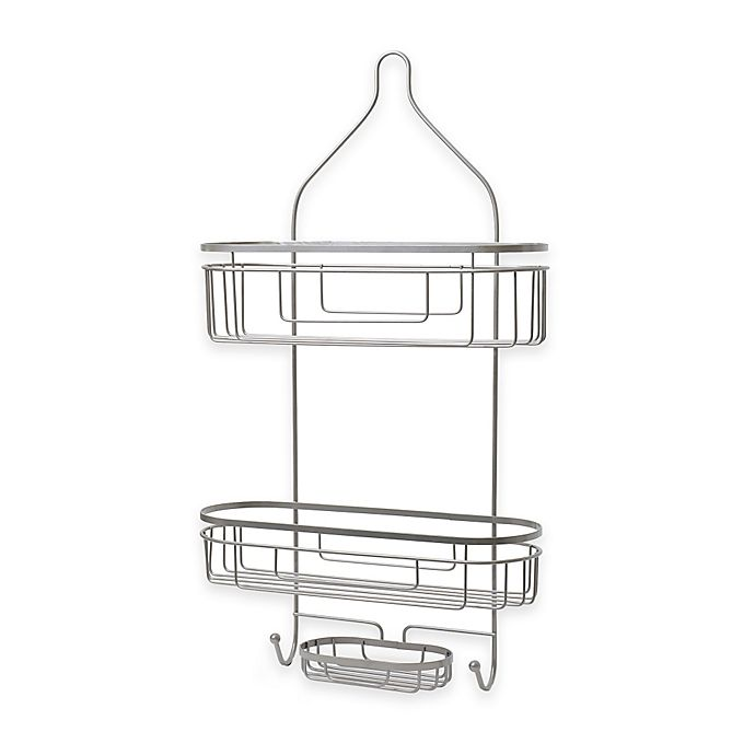 Alternate image 1 for .ORG Extra Wide and Extra Long Shower Caddy in Satin