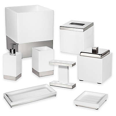 Roselli Trading Suites Bath Ensemble in White/Stainless Steel
