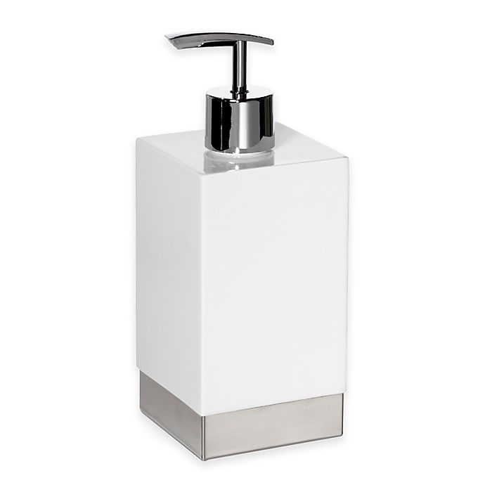 Alternate image 1 for Roselli Trading Suites Lotion Dispenser in White/Stainless Steel