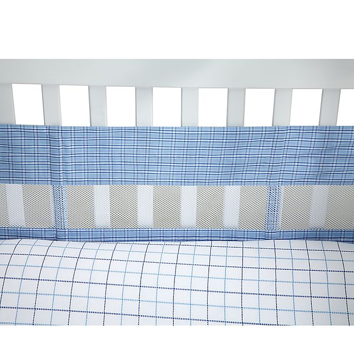Alternate image 1 for Nautica Kids® William Secure-Me Mesh Crib Liner