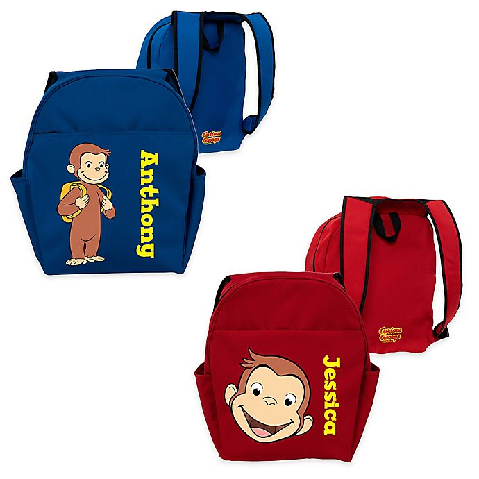 Alternate image 1 for Curious George Funny Face Toddler Backpack