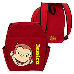 Curious George Funny Face Toddler Backpack in Red