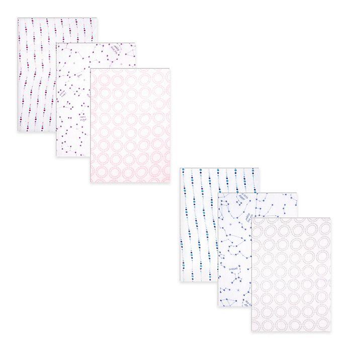 Alternate image 1 for Hudson Baby® 3-Pack Stars Swaddle Blankets
