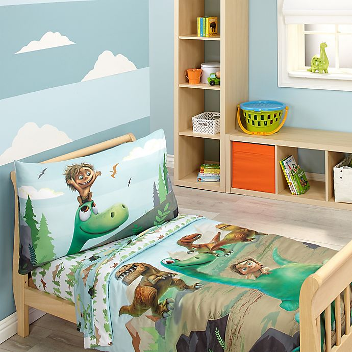 Disney® The Good Dinosaur Prehistoric Footprints 4-Piece Toddler Bedding Set f48450acb