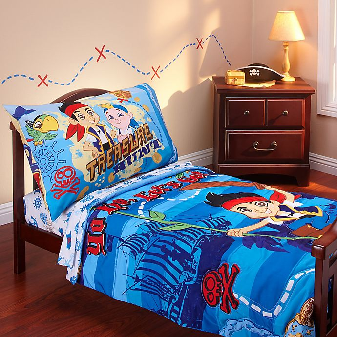 Alternate image 1 for Disney® Jake and Neverland Piirates 4-Piece Toddler Bedding Set
