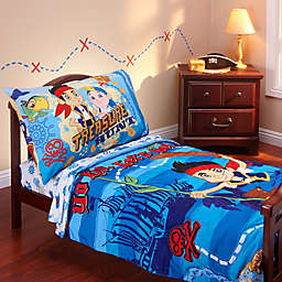Disney® Jake and Neverland Piirates 4-Piece Toddler Bedding Set
